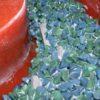 Close up image with ceramic media