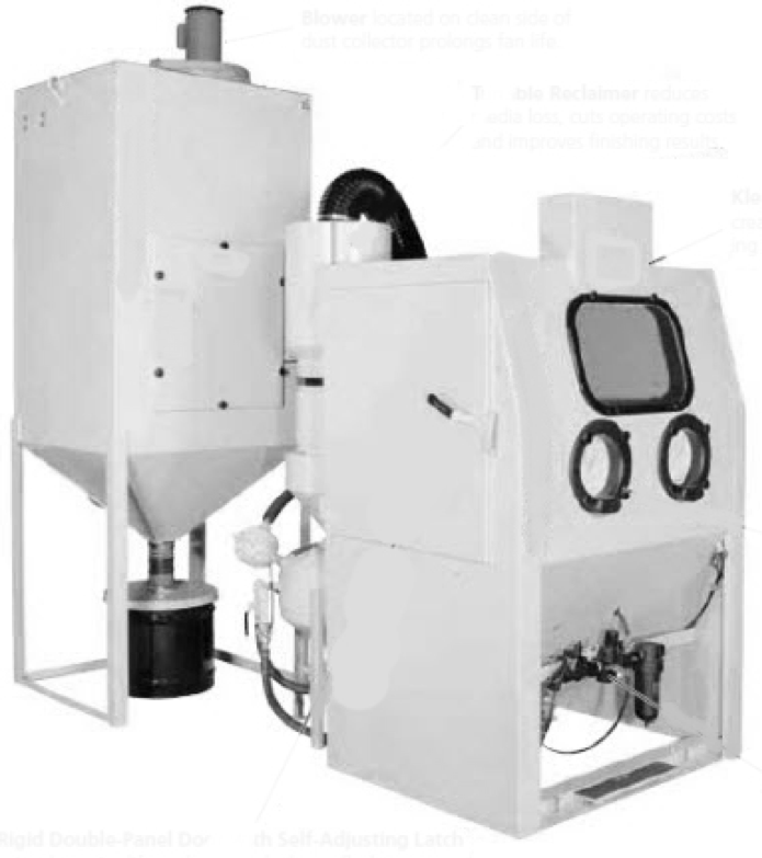 AIR BLAST CABINET & DUST COLLECTOR